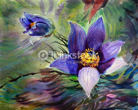 Watercolor painting of spring flowers stock illustration thinkstock watercolor painting of spring flowers stock illustration mightylinksfo
