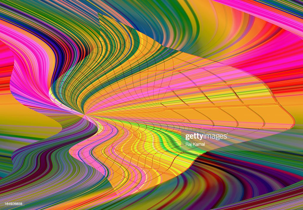Wave of Colour. Abstract Digital Design : Stock Illustration
