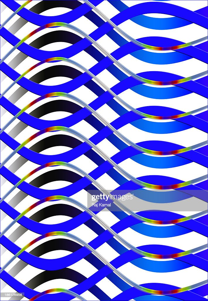 Wavy Creative Abstract Design : Stock Illustration