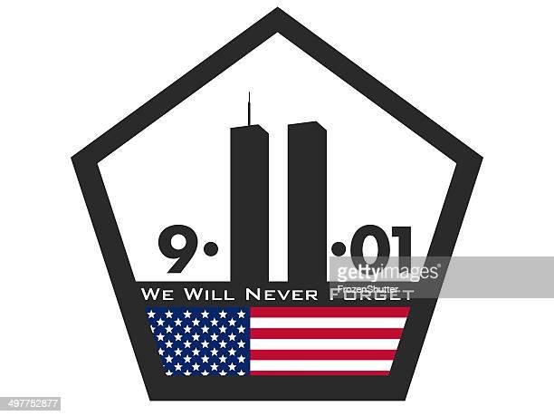 Nous n'oublierons jamais en direction de Patriot jour 11 septembre 2001