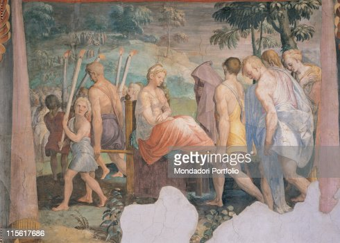 Wedding Procession Of Psyche By Anonymous Artist 1550 16th Century Fresco