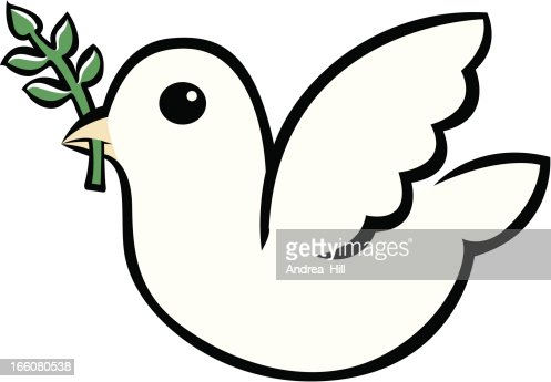 white dove icon vector art getty images