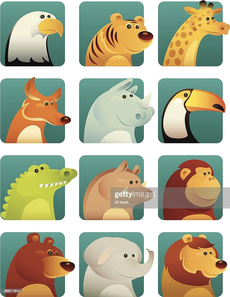 wild animals : Vector Art