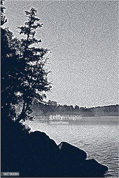 Wilderness Lake and Morning Fog