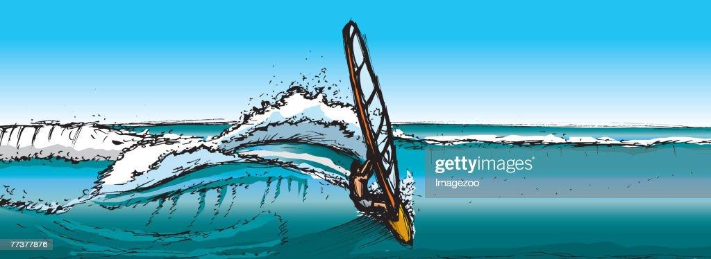 windsurfing : Vector Art