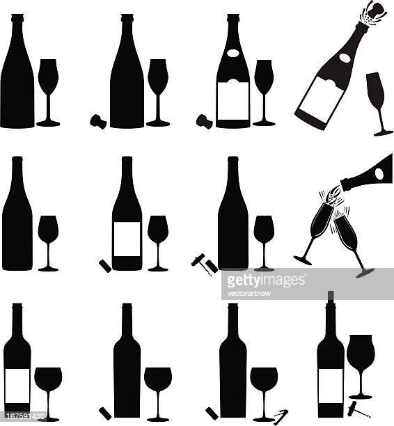Wine Icon Set