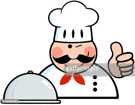 Winked Chef Logo With Platter