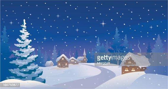 free christmas village clipart - photo #39