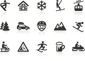 """""""Monochromatic winter sport related vector icons for your design or application. Raw style. Files included: vector EPS, JPG, PNG."""""""