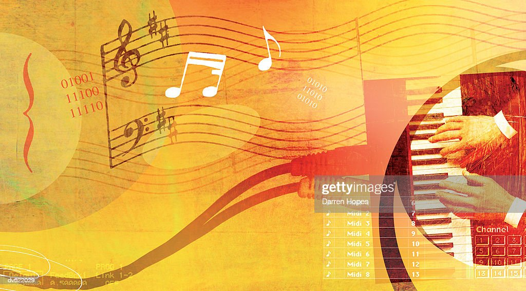 Wired Music : Stock Illustration