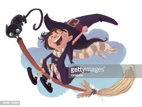 witch girl : Stock Illustration