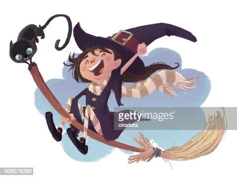 Hexenmädchen : Stock-Illustration
