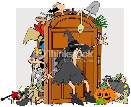 Witches closet stock illustration thinkstock for Schrank comic