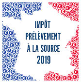 Withholding tax applies to employement income 2019 in France