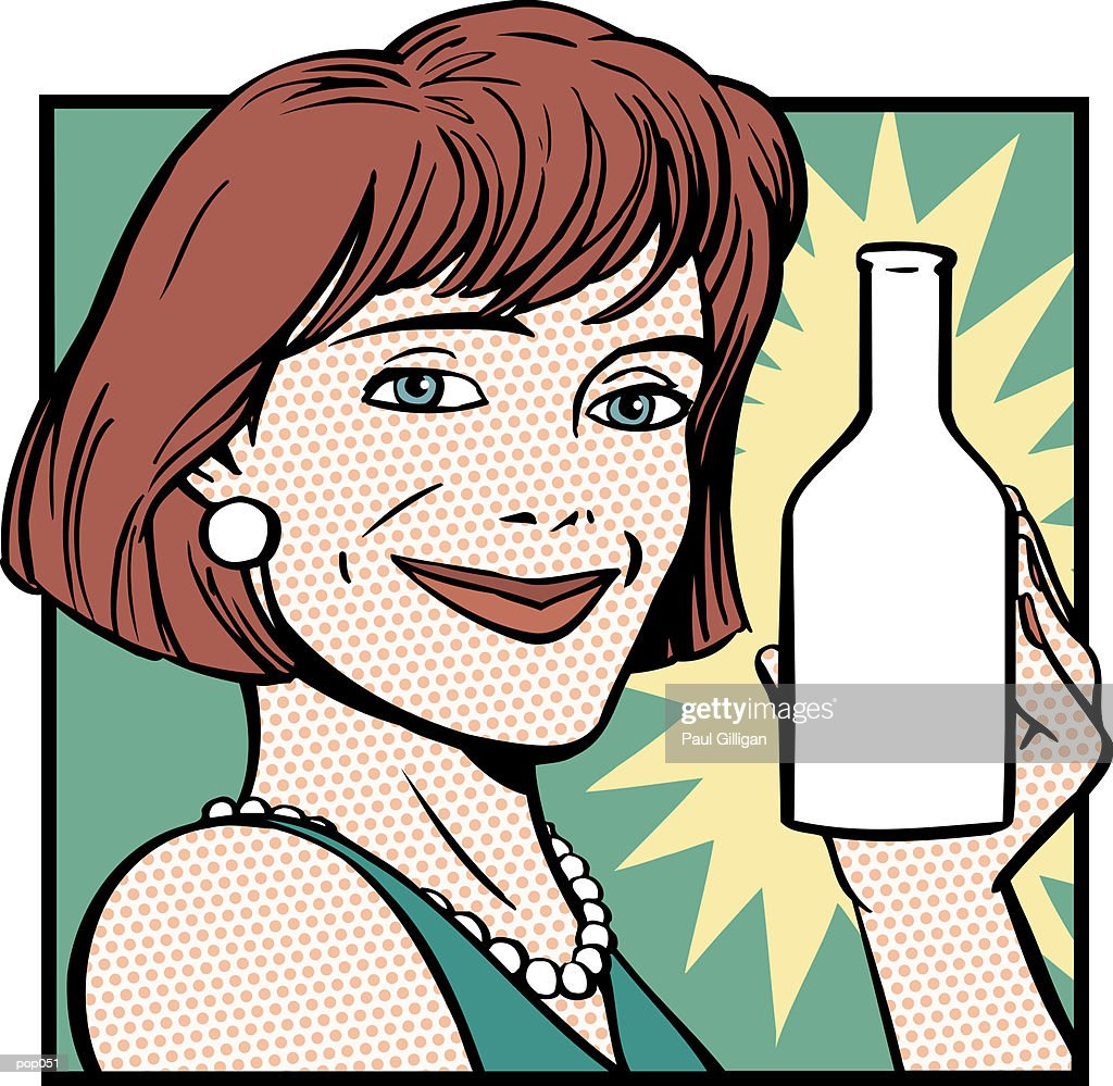 Woman Endorsing Product : Stock Illustration