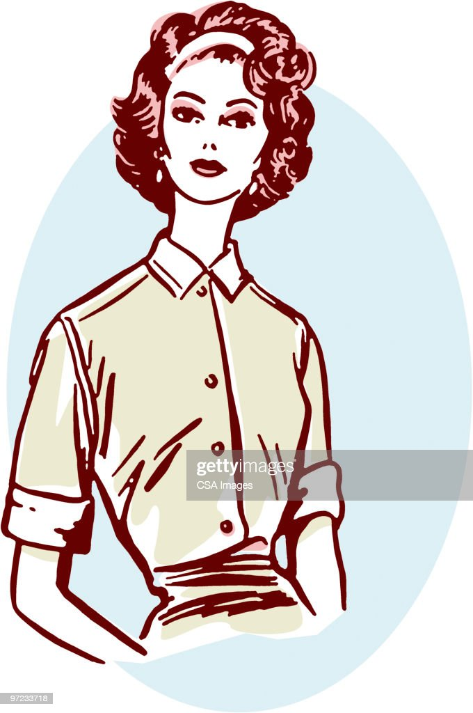Woman : Stock Illustration