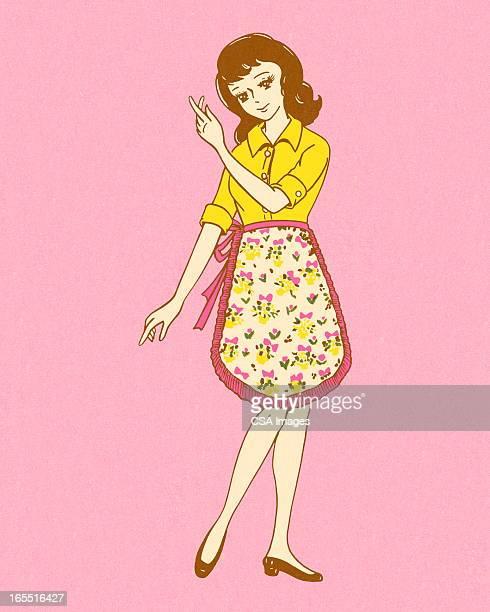 Femme portant un tablier
