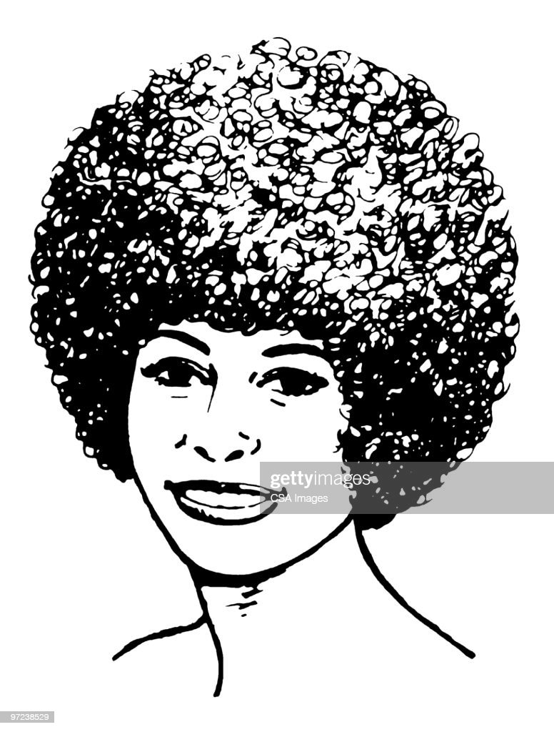 Woman with Afro : Stock Illustration