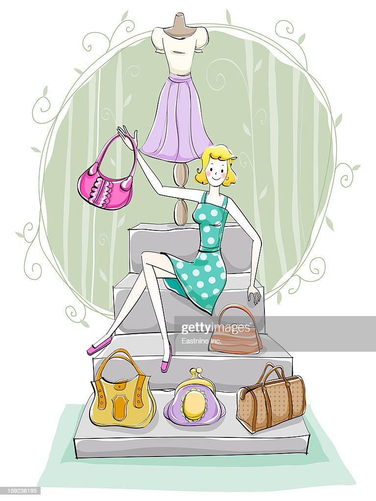 Woman's Life : Stock Illustration
