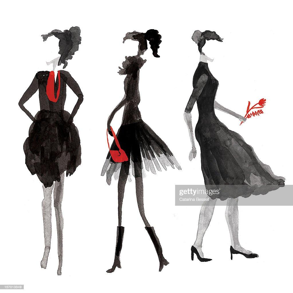 Women Silhouettes : Stock Illustration