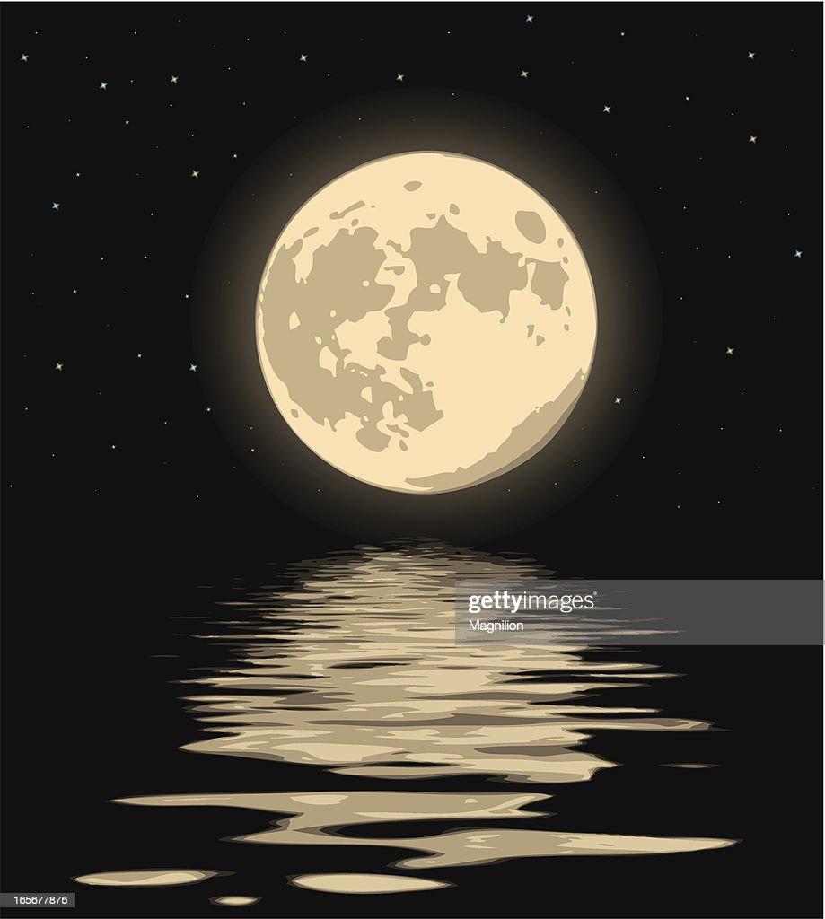 Wonderful Night Moon Vector Art | Getty Images
