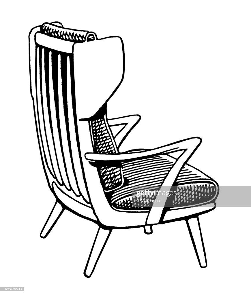 Wooden Armchair : Stock Illustration