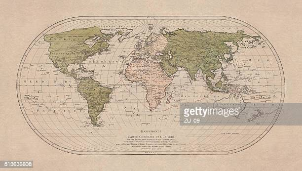 World map by Mathieu Albert Lotter, Augsburg, 1778