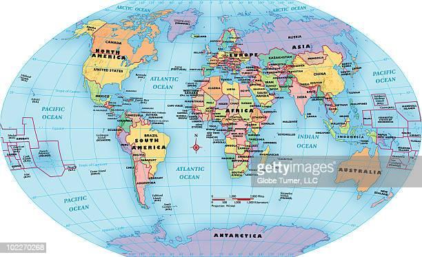 Ilustraciones de stock y dibujos de ecuador terrqueo getty images world map continent and country labels gumiabroncs Gallery