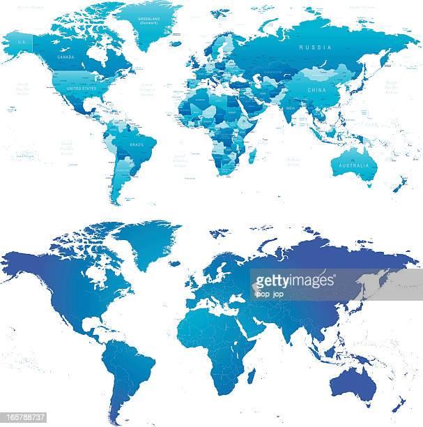 Carte du monde-pays et général