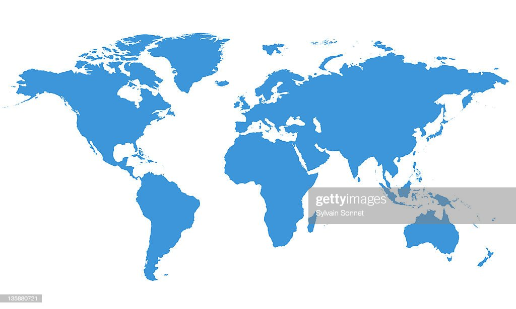 World Map : Stock Illustration