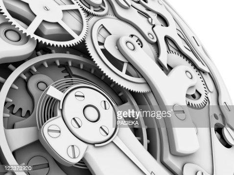 Wrist watch interior : Stock Illustration