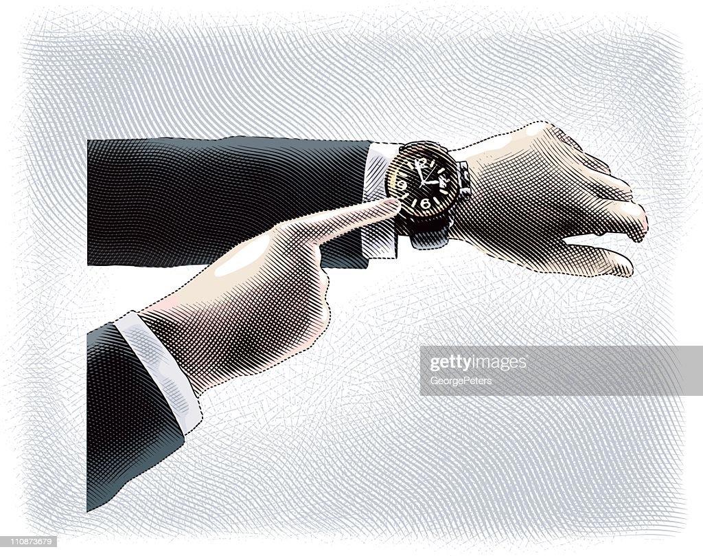 Wristwatch : Vector Art