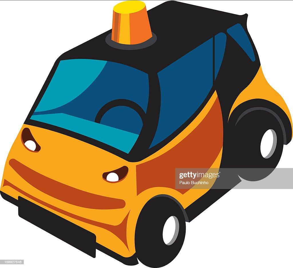 A yellow car : Stock Illustration