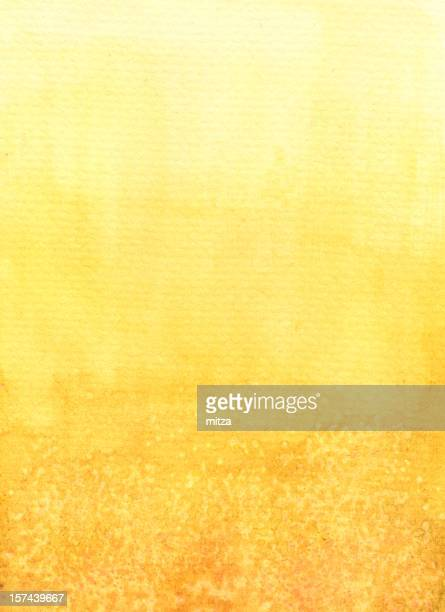 Yellow Gradient Water Colored Abstract Background