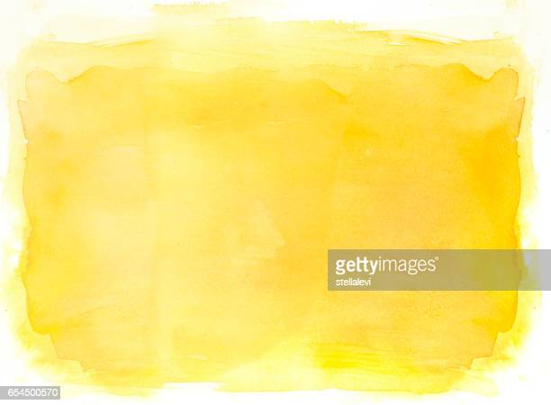 Yellow watercolor background on white