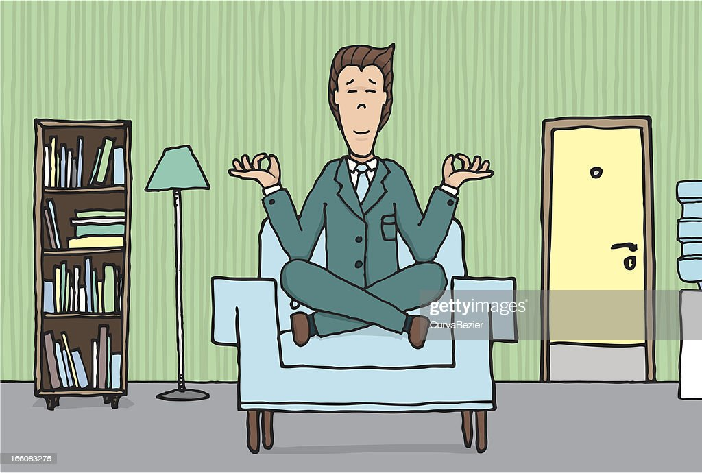 Yoga at the office : Vector Art