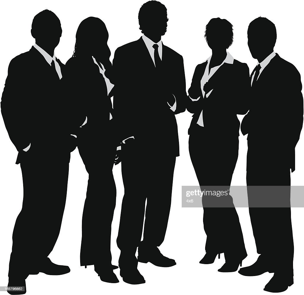 Young Business Group Silhouette Vectorkunst | Getty Images