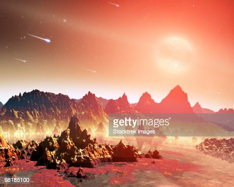 A young, hypothetical planet around a cool star. : Stock-Illustration