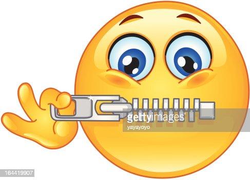 Zipper emoticon : Vector Art