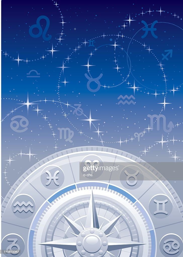 Zodiac background : Vector Art