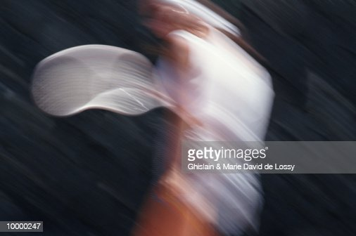 TENNIS PLAYER IN BLUR : ストックフォト