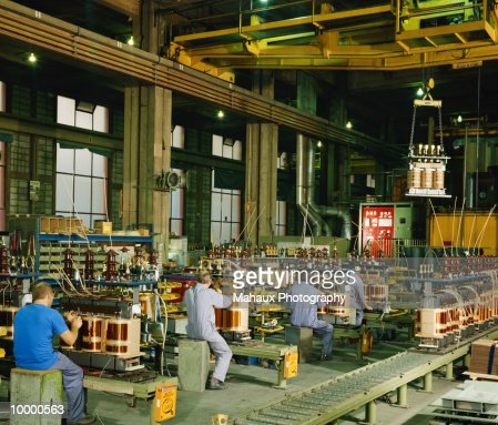 TRANSFORMER MANUFACTURING IN BELGIUM : Foto stock