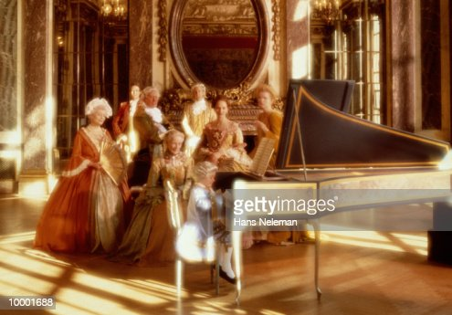 AMADEUS AT PIANO WITH ADMIRING ADULTS : Stock Photo