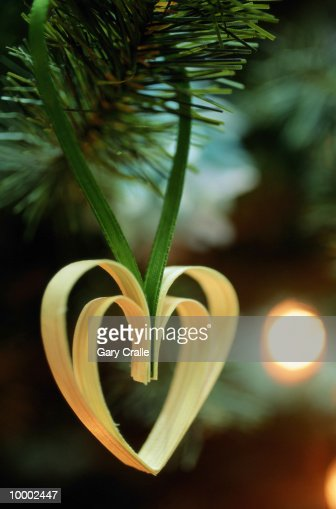 DOUBLE HEART SHAPED CHRISTMAS ORNAMENT IN SWEDEN : Photo