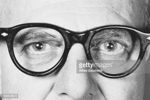 MATURE MAN IN GLASSES IN DETAIL : Photo