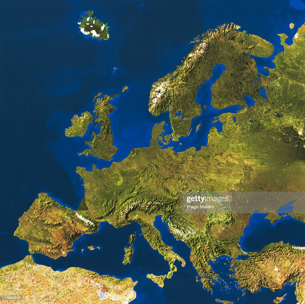 RELIEF MAP OF EUROPE