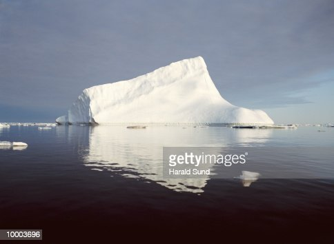 ICEBERG AT AMMASSALIK FJORD IN GREENLAND : Stock Photo