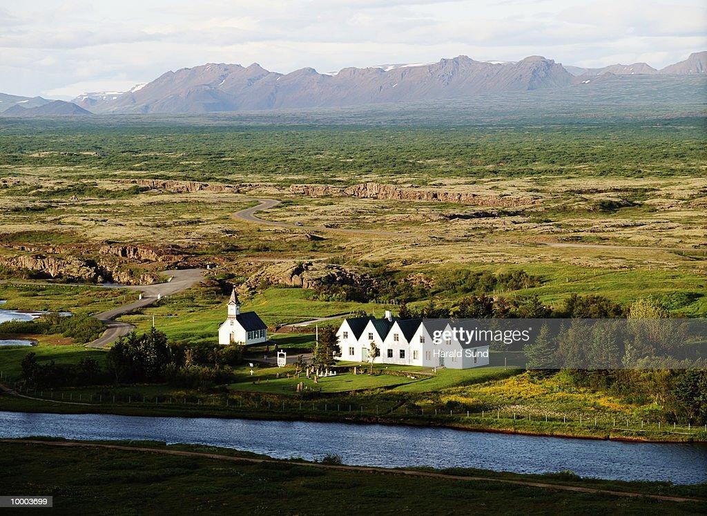 HISTORIC SITE IN SKALHOLT, ICELAND : Foto de stock