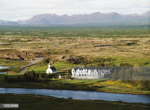 HISTORIC SITE IN SKALHOLT, ICELAND : Stock Photo