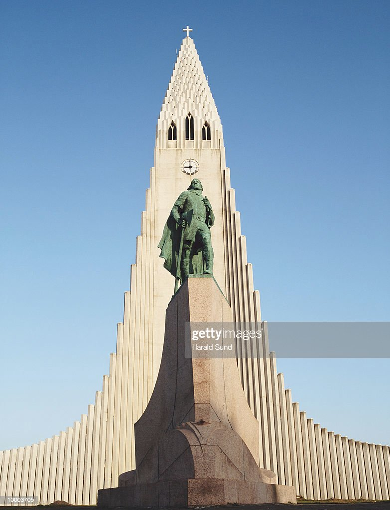 HALLGRIMSKIRKJA IN REYKJAVIK, ICELAND : Stock Photo